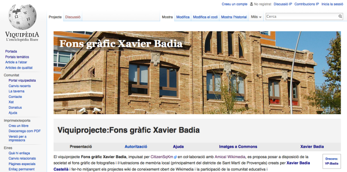 Viquiprojecte Xavier Badia