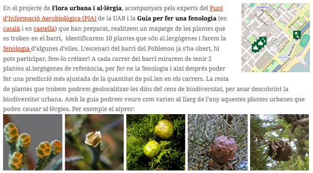 Flora Urbana i Al.lèrgies